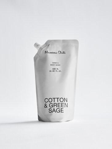 (500 ml) Refill jabón líquido de manos y cuerpo Cotton & Green Sage