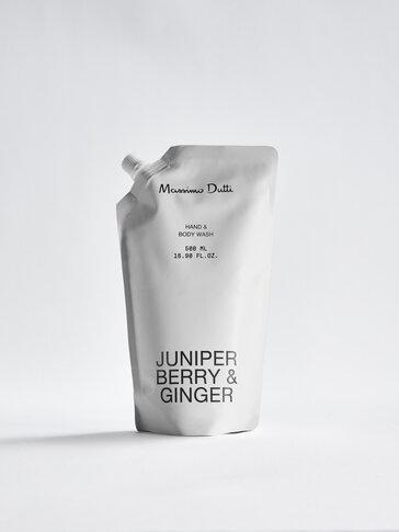 (500 мл) пълнител за почистващ гел за ръце и тяло Juniper Berry & Ginger