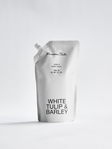 (500 мл) пълнител за почистващ гел за ръце и тяло White Tulip & Barley