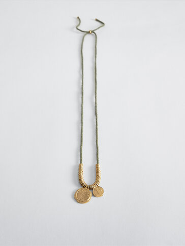 Gold-plated two-coin necklace