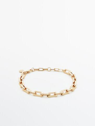 Polsera cadena bany or