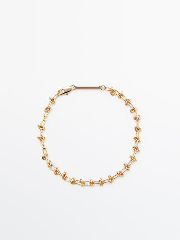 Позолоченный браслет-цепочка