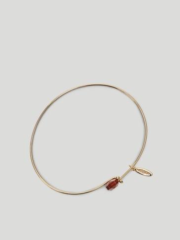 Gold-plated January stone bracelet