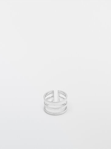 Silver triple ring