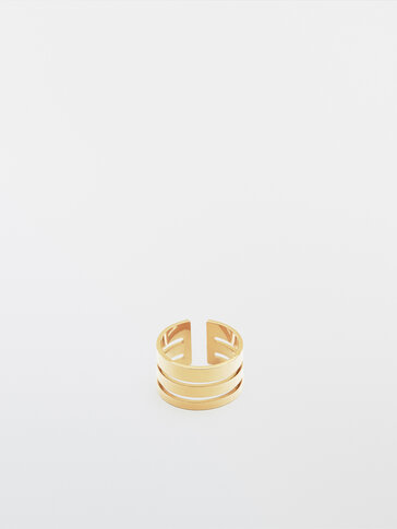 Gold-plated triple ring