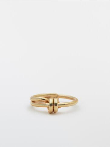 Позолочений перстень із вузликом