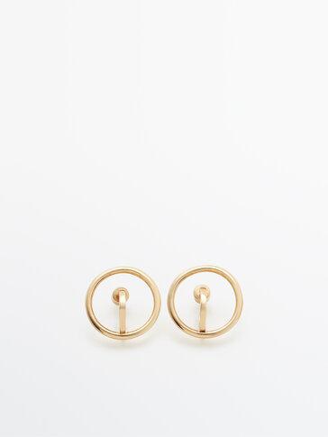 Позолоченные серьги-кольца