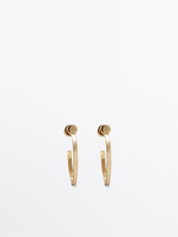 Arracades cèrcols oberts bany d'or