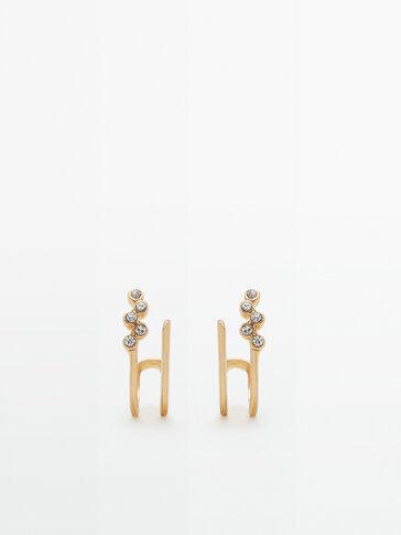 Boucles d'oreilles doubles cristaux
