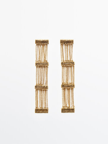 Gold-plated cascading earrings Limited Edition