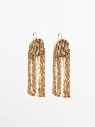 Gold-plated cascading circle earrings Limited Edition