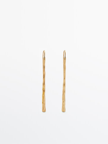 Long gold-plated dangle earrings Limited Edition
