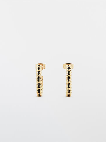 Gold-plated thread earrings