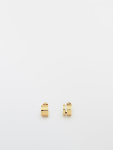 Gold-plated double earrings