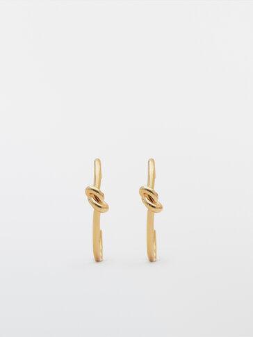 Arracades cèrcols nus bany d'or