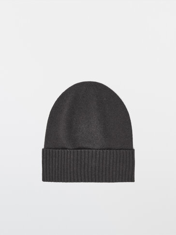 Bonnet côtelé laine et cachemire