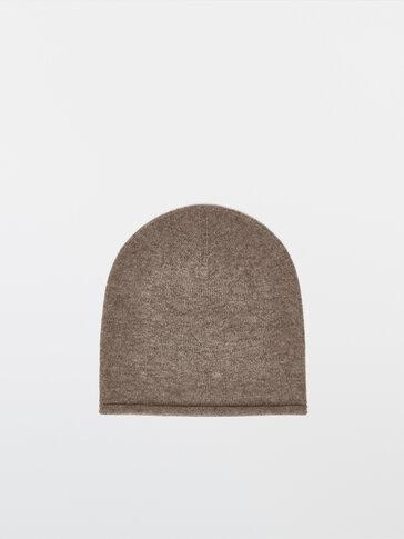 Cashmere wool beanie