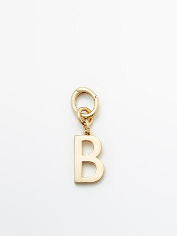 Позолоченная подвеска «Буква B»