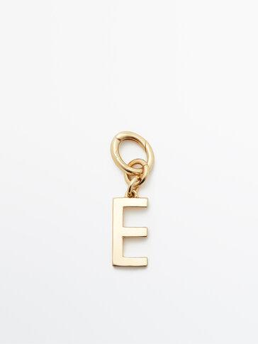 Позолочений підвісок із літерою E