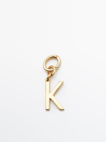 Позолоченная подвеска «Буква K»