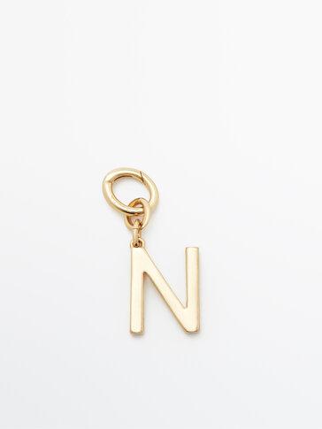 Позолоченная подвеска «Буква N»