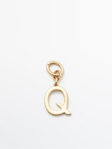 Позолочений підвісок із літерою Q