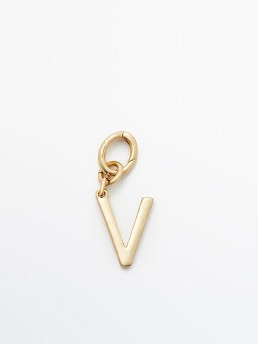 Позолочений підвісок із літерою V