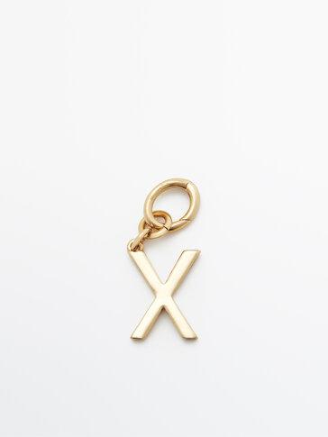 Позолочений підвісок із літерою X