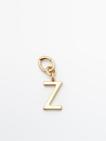 Позолоченная подвеска «Буква Z»