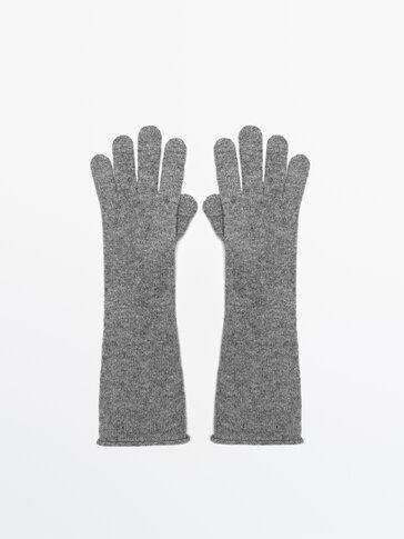 Gants longs laine et cachemire