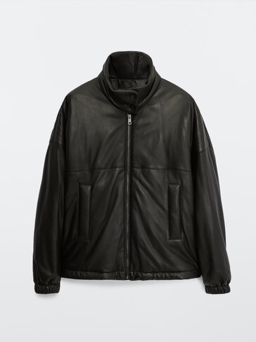 Pilotska jakna iz umetnega usnja