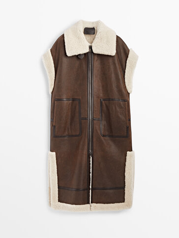 Long mouton leather waistcoat Limited Edition