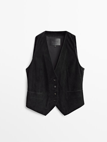 Black suede waistcoat Limited Edition
