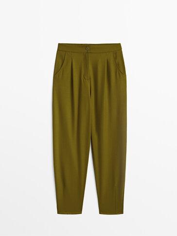 Παντελόνι slouchy με μαλλί