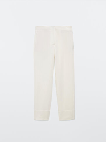 Pantalon droit en laine