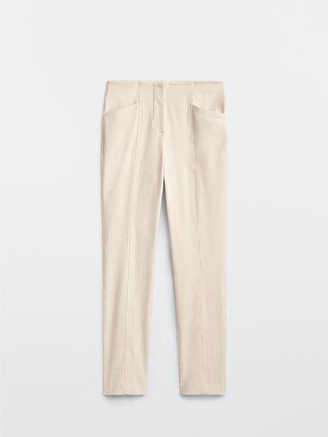 Ελαστικό παντελόνι με τσέπες