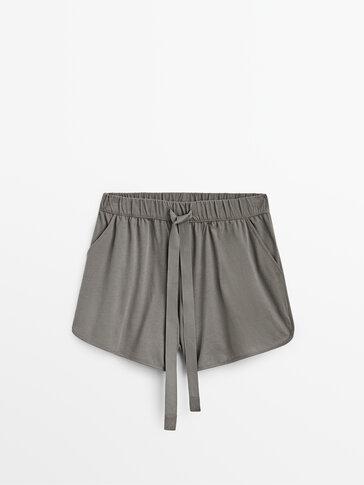 Cotton pyjama shorts