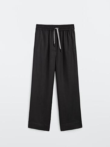 Fluidne hlače elastičnog struka