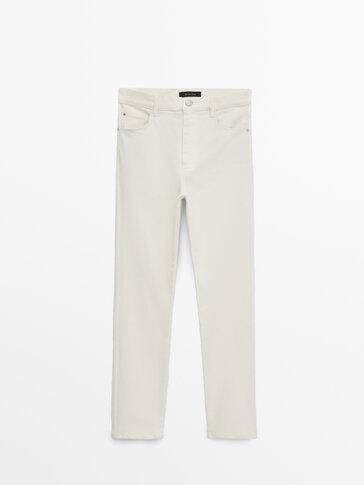 Зауженные брюки с высокой посадкой