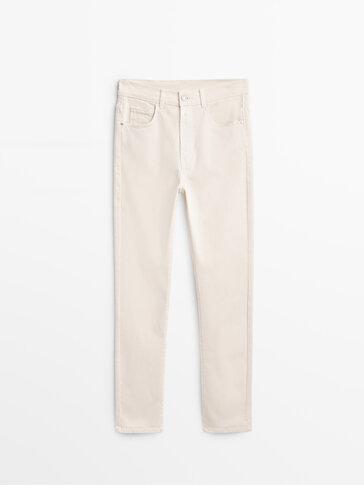 Slim-Fit-Hose mit hohem Bund