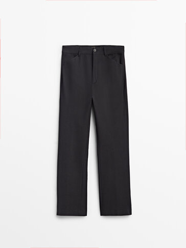 Casual kick flare trousers