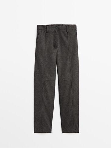 Pantalon jogger gris en coton