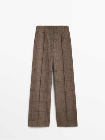 Checked wool trousers Limited Edition