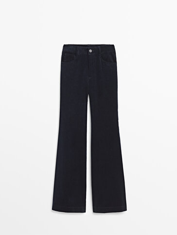 Wide-leg corduroy trousers Limited Edition