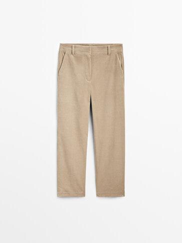 Pantalón chino de pana
