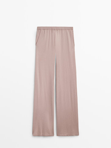 Flowing knit trousers