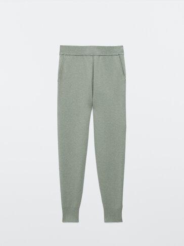 Jogging fit knit trousers