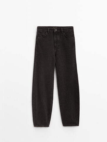 Черные джинсы свободного кроя
