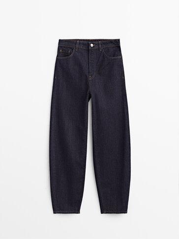 Slouchy-Jeans mit hohem Bund