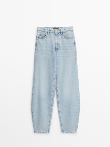 Slouchy jeans met hoge taille